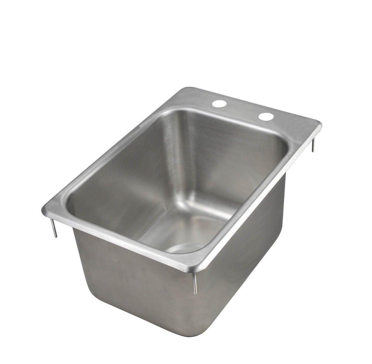 John Boos PB-DISINK101410 Deck Mount Pro-Bowl Drop-In Hand Sink, 14'' Length x 10'' Width x 10'' Depth