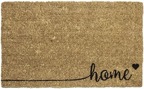 Entryways Home , Hand-Stenciled, All-Natural Coconut Fiber Coir Doormat 18 X 30 x .75
