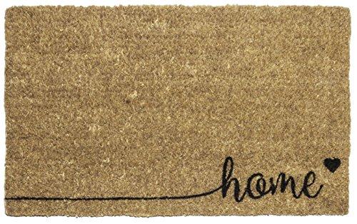 Entryways Home , Hand-Stenciled, All-Natural Coconut Fiber Coir Doormat 18