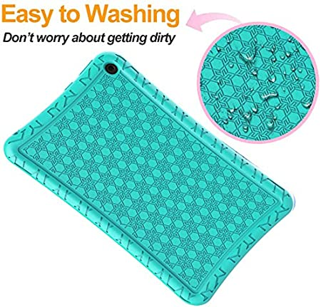 BMOUO Silicone Case for All-New Fire HD 8 /& Fire HD 8 Plus Anti Slip Shockproof Light Weight Protective Kids Case for  Fire HD 8 Tablet//Fire HD 8 Plus,Turquoise 10th Generation, 2020 Release