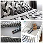 Luchild-Baby-Braided-Crib-Bumper-Soft-Snake-Pillow-Protective-Decorative-Long-Baby-Nursery-Bedding-Cushion-Knot-Plush-Pillow-for-ToddlerNewborn-Grey