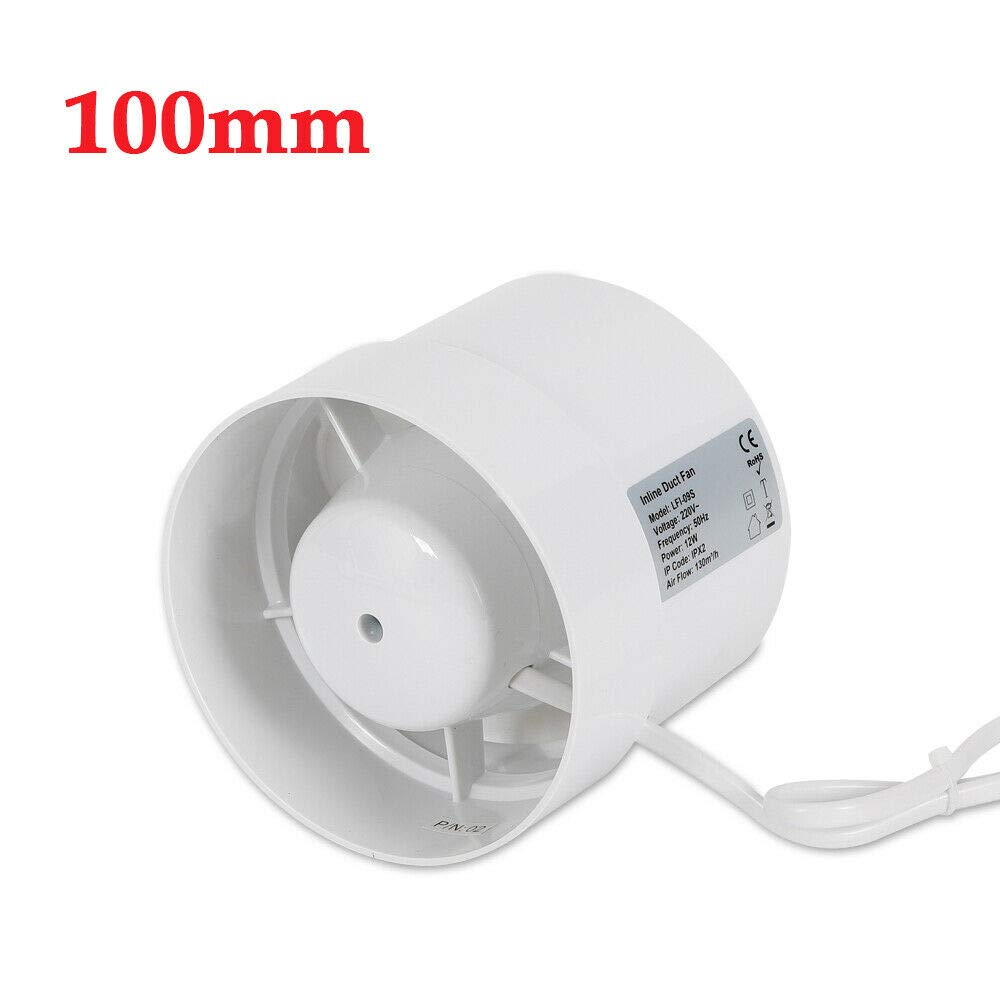 100mm Rohrventilator Rohrl/üfter Abluftventilator L/üftungsventilator Bad Kanall/üfter