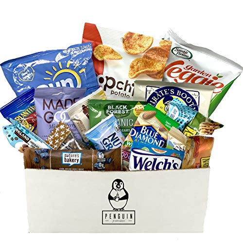 Healthy Snacks Care Package (20 Count Variety Snack Pack) Assortment of Nuts, Bars, Healthy Chips and More! (Care Basket)