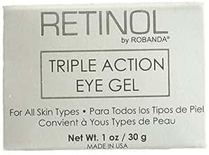 Retinol by Robanda Triple Action Eye Gel, 1 Ounce