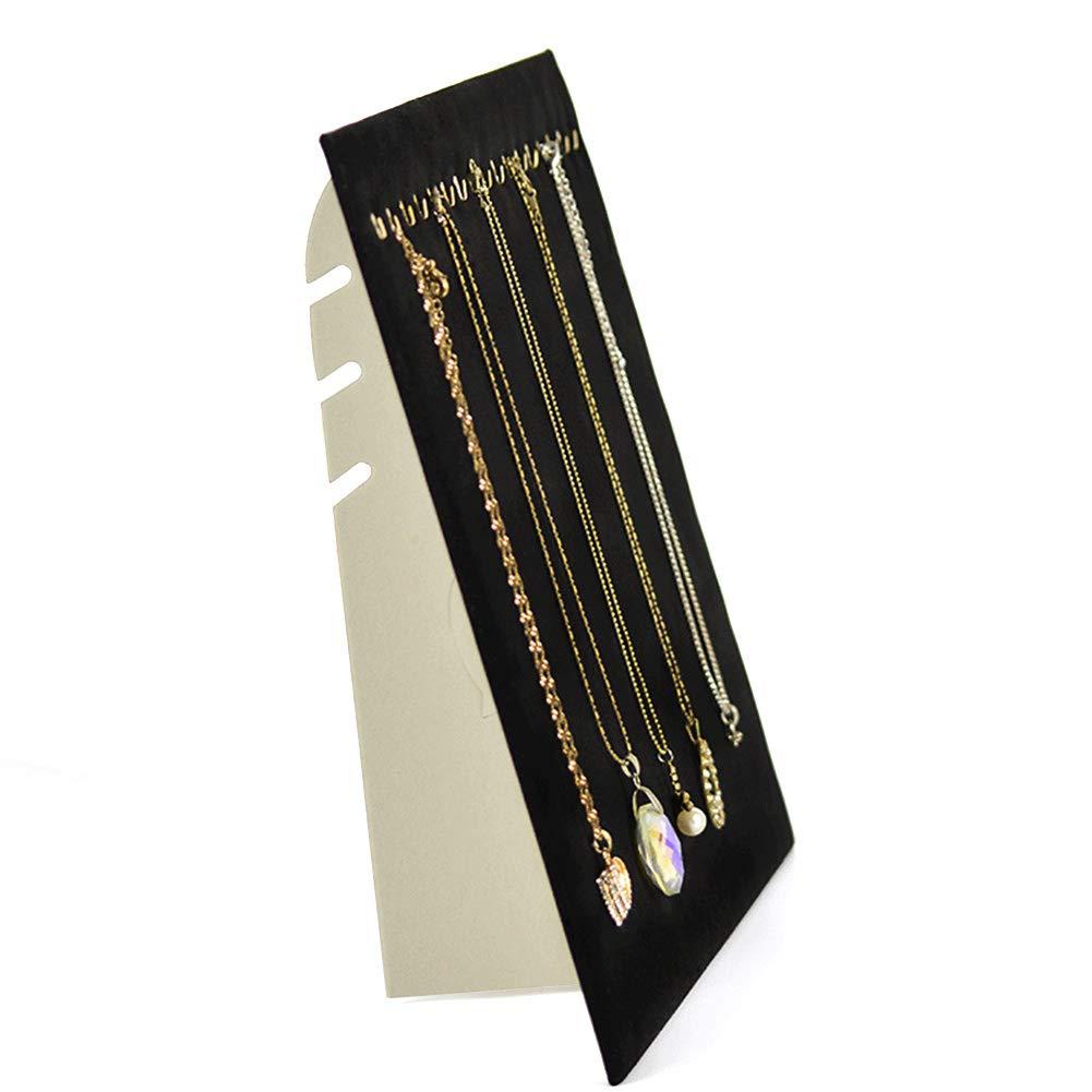 Soporte Expositor para Collares y Joyas de Terciopelo 17 Ganchos Colgantes para Almacenamiento de Pulseras LNIMIKIY