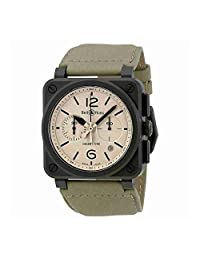 Bell and Ross Aviation Desert Type Chronograph Automatic Mens Watch BR03-94-DESERT TYPE