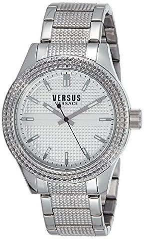 Versus by Versace Men's SOT070015 Bayside Analog Display Quartz Silver Watch (Gold Versus Watches For Men)