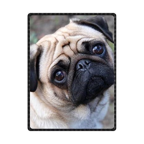 TSlook 50x80 Blankets Funny Comfortable Pug Dog Comfy Funny Bed Blanket Craig aitken