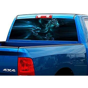 Truck Back Window Decals >> Amazon Com P499 Dragon Tint Rear Window Decal Wrap Graphic
