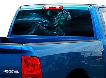 Amazon.com: Pegatina para ventana trasera de dragón P499 con ...