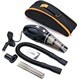Cheap FREESOO Car Vacuum Cleaner Dry and Wet Washable Filter Portable Handheld Mini DC 12V 106W Black