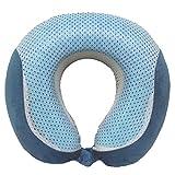 Lux Voyage Cooling Gel-infused Memory Foam Travel Neck Pillow (Ocean Blue)