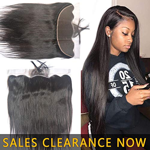 13x4 Ear to Ear Swiss Lace Frontal Closure Pre Plucked With Full Baby Hair Best 9A Brazilian Indian Virgin Hair Extensions Real Cheap Malaysian Peruvian Human Hair Silky Straight One Piece 10 Inch (Best Malaysian Hair Vendors)