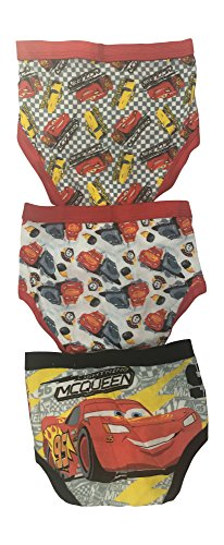 (Disney Pixar Cars 100% Cotton Underwear Briefs for Toddler Boys 3 Pack (2T-4T) (Checkered Flag, 2T/3T))