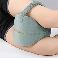 Langria Knee Pillows Memory Foam Leg Pillow with Elastic Strap (Gray)
