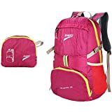 Leaper Outdoor Ultra-light Water-repellent 35L Packable Handy Lightweight Travel Backpack Daypack for Camping Hiking Trekking Mountain Climbing(Red)