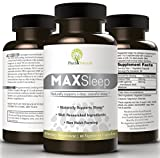MAXSleep. 100% American Natural Sleep Aid To Counter Insomnia And Sleeplessness. Melatonin, GABA & Valerian Combined In Amazing Sleeping Pills For Sound and Refreshing Sleep, A