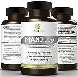 MAXSleep. 100% American Natural Sleep Aid To Counter Insomnia And Sleeplessness. Melatonin, GABA & Valerian Combined In Amazing Sleeping Pills For Sound and Refreshing Sleep, A