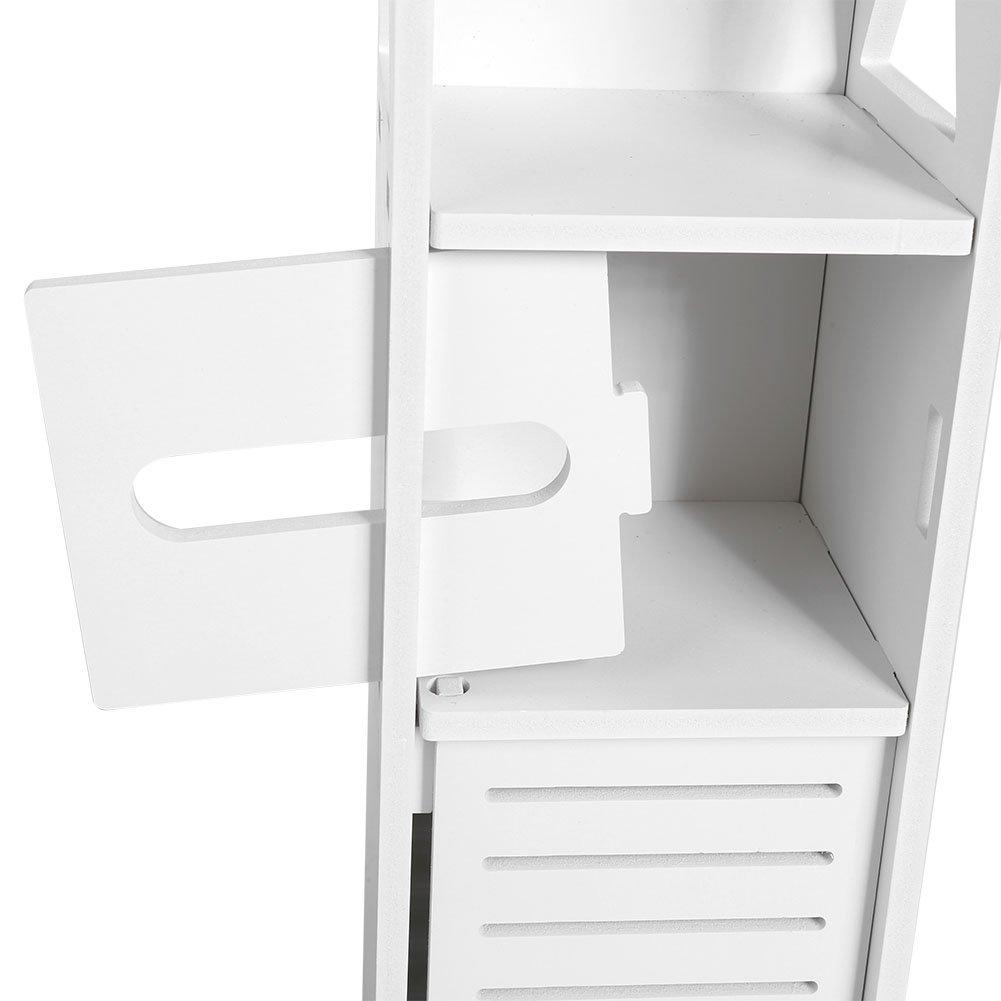 Flur. GOTOTOP Schlafzimmer-Schr/änke K/üche Taschentuch-Ablage f/ür Wohnzimmer Schrank-Regal 80 x 15,5 x 15,5 cm wei/ßes Holz schmales Badezimmer-Toiletten-M/öbelschrank