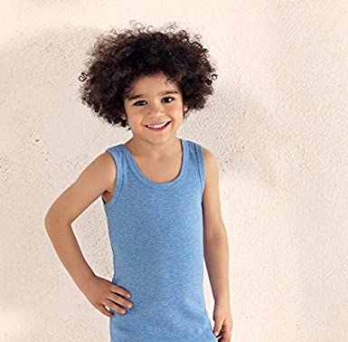 Tagless Undershirts Super Soft 4-Pack Tees Sizes 2-14. Brix Boys Cotton Tank Top