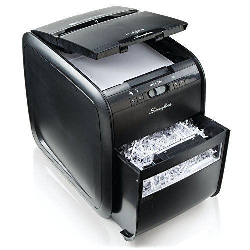 Swingline Paper Shredder, Auto Feed, 80 Sheet Capacity, Cross-Cut, 1 User, Personal, Stack-and-Shred 80X (1757574)