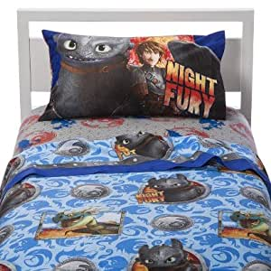 how to train your dragon sheets and comforter