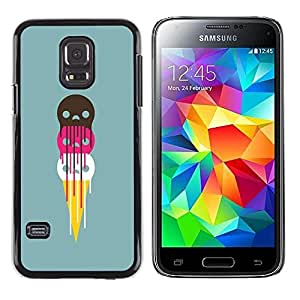 PC/Aluminum Funda Carcasa protectora para Samsung Galaxy S5 Mini, SM-G800, NOT S5 REGULAR! Cute Ice Cream Skulls / JUSTGO PHONE PROTECTOR