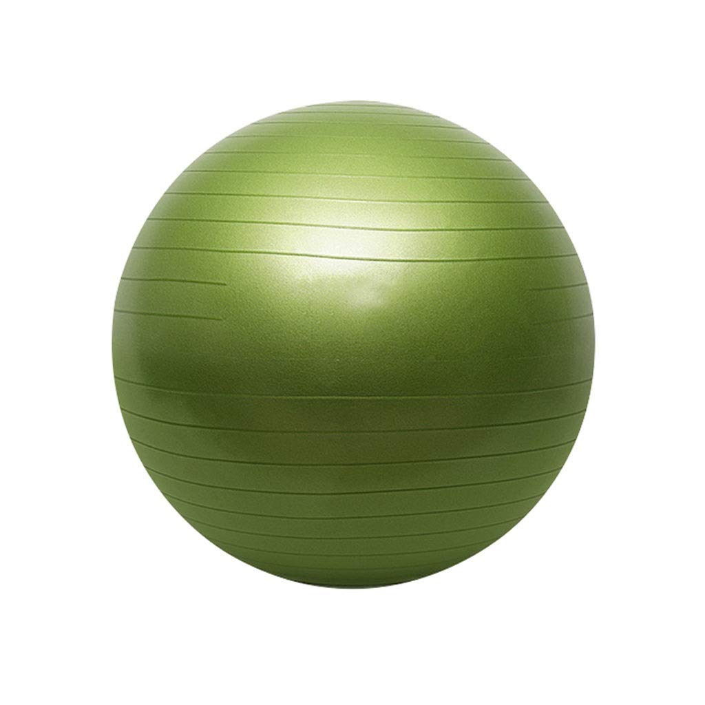 Exercise Ball, 55 Anti-Burst Supports 200kg Gym Ball with Pump, Swiss Ball for Yoga Pilates Pregnancy & Fitness Core Training and Physical Therapy (Color : Green, Size : 55cm)
