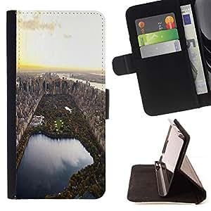 Momo Phone Case / Flip Funda de Cuero Case Cover - Parque Nyc Usa la ciudad Vista cenital - Samsung Galaxy S6 Active G890A