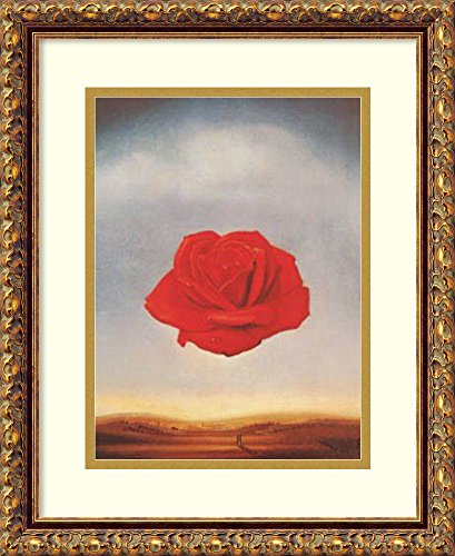 (Framed Wall Art Print | Home Wall Decor Art Prints | Meditative Rose by Salvador Dali | Traditional Decor)