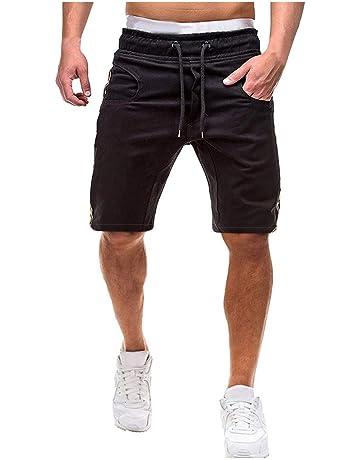 Urban Beach Hombre Amazon Slim Fit Pantalón Corto Cargo, tamaño mediano), color verde amazon Algodón