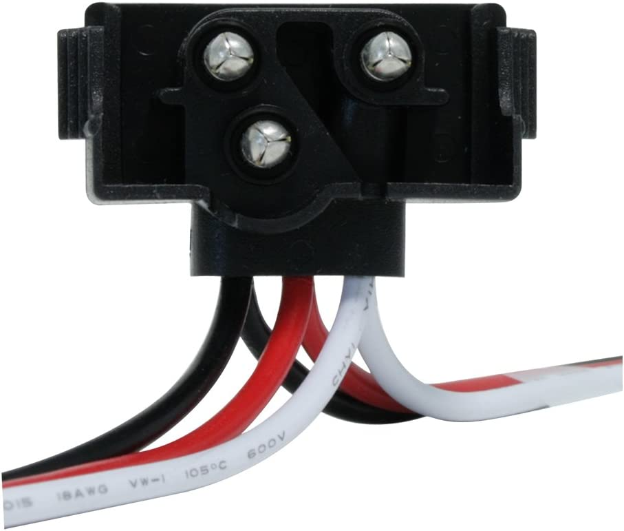Grand General 86107 Continuous 3 Prong Right Angle Plug Wire Harness Roll in 36 Lead with 50 Plugs per Roll