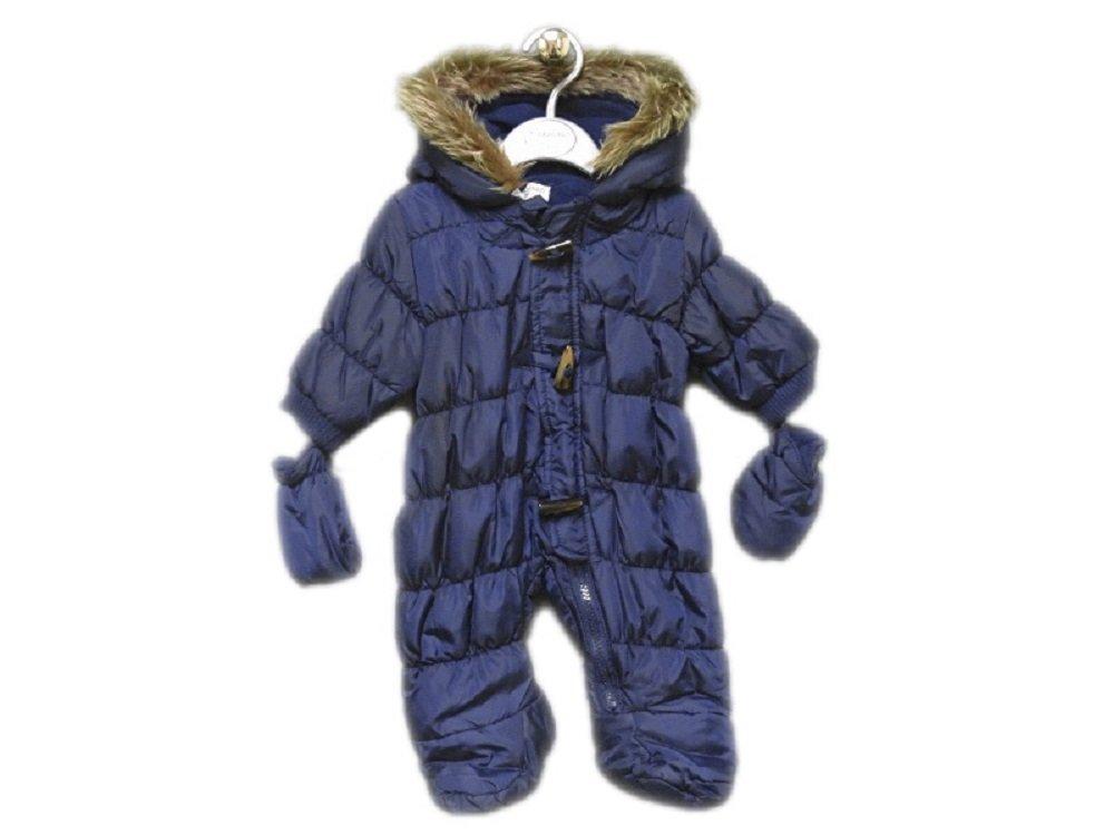 ♥BABALUNO♥ Schneeanzug Overall Kapuze Fuß Handschuhe warm 56 62 68 74 80 NEU (62/68)