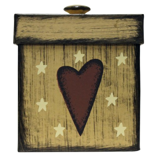 Cheerful Giver Heart Antique Storage