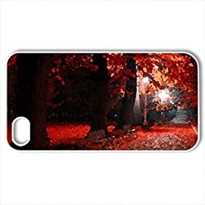Autumn - Case Cover for iPhone 4 and 4s (Beaches Series, Watercolor style, White)