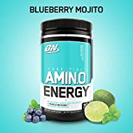 Optimum Nutrition Amino Energy with Green Tea and Green Coffee Extract, Flavor: Blueberry Mojito, 30 Servings