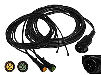 Aspöck Trailer Cable 9 m/13-Pin Plug Wiring Harness + 0.2 m Exit +