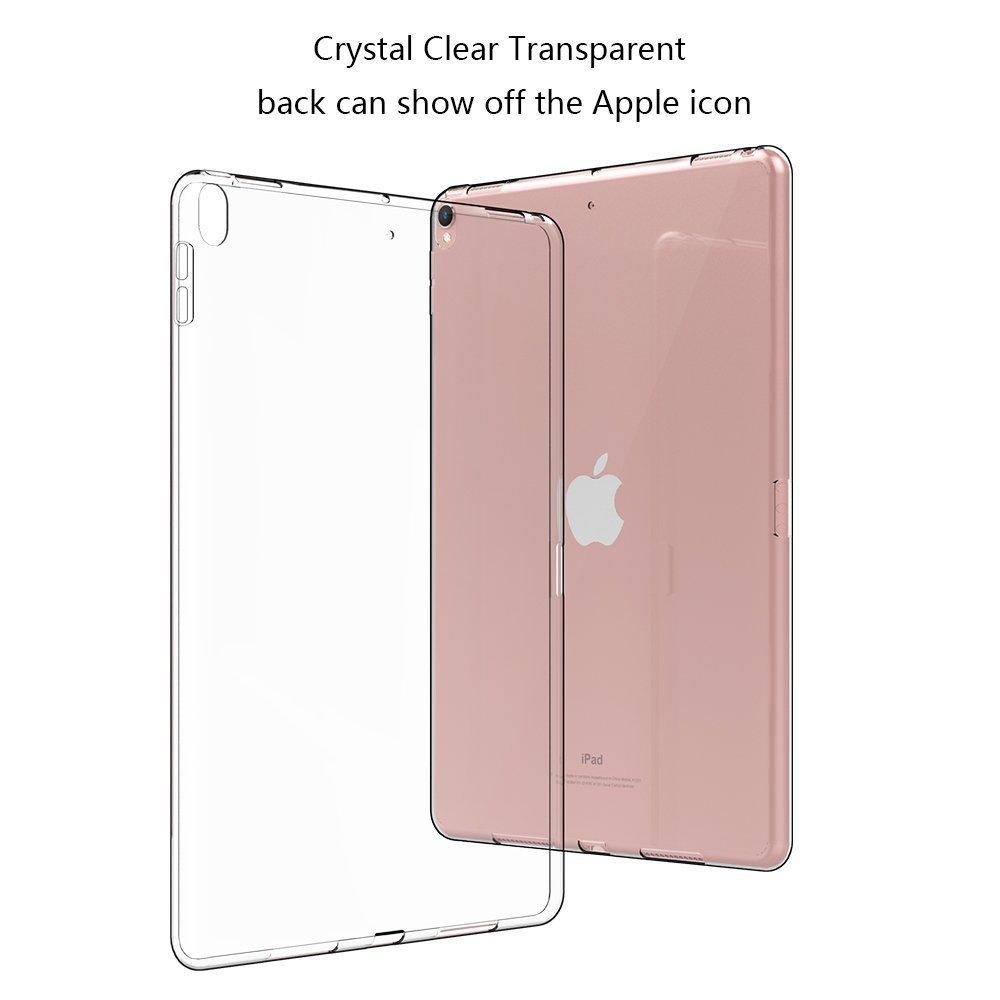 HBorna Cover per Nuovo iPad 2018/2017 9.7 pollici, Custodia Protettiva Posteriore Silicone, [Cristallo Trasparente] Back Case Cover per Apple New iPad 9,7 inch 2018/2017 Release, Trasparente