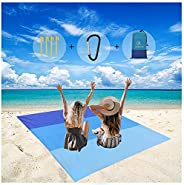 Portable Waterproof Beach Blanket Extra Large-77.95'' ×80.31''Quick-Drying Picnic Blanket for