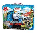 Ravensburger Thomas & Friends Circus Fun Floor Puzzle in a Suitcase Box, 24-Piece