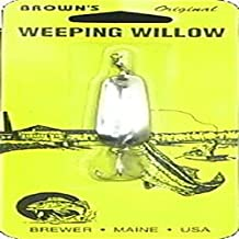 Brown's Tackle Weeping Willow Nickel Silver Fishing Lure