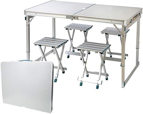 IBEQUEM - Juego de mesa y sillas de picnic plegable, altura ...