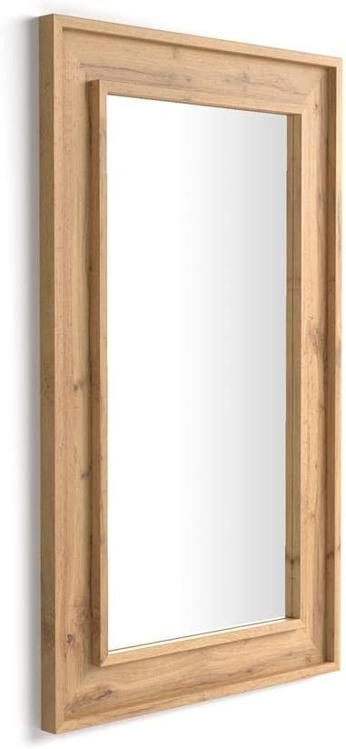 Made in Italy Mobili Fiver Specchiera Angelica da Parete Cemento 112 x 67 x 3,6 cm Disponibile in Vari Colori Nobilitato//Vetro 112x67