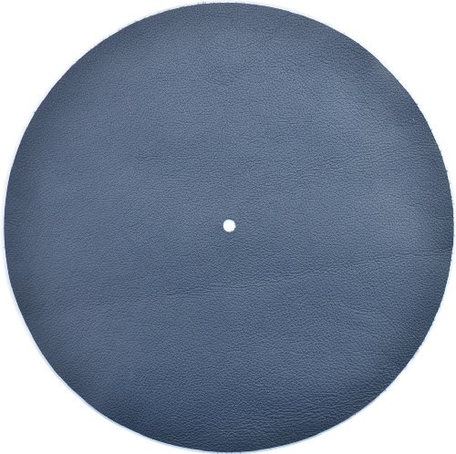 Genuine Leather Turntable Platter Mat - Navy ()