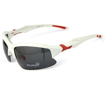 AikeSweet – profesional polarizadas ciclismo gafas casual (mm) X 70 Mm), Blanco