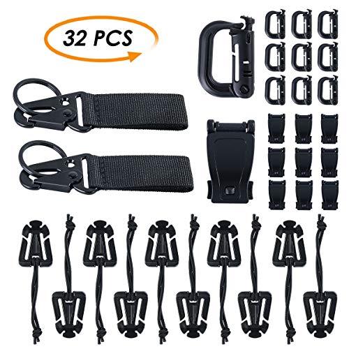 Wallfire 32 Pack Multipurpose Kit Tactical Gear Clip Strap