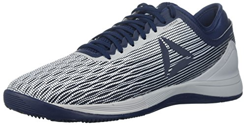 Reebok Men's Crossfit Nano 8.0 Flexweave Cross Trainer, White/Coll. Navy/Stark Grey, 10 M US from Reebok