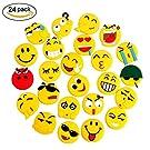 LANMU Emoji Fridge Magnets,Funny Emoji Decor,Smiley Face Emoji Sticker for Fridge,Whiteboards,School Lockers and Kids Party Favors-24 Pack