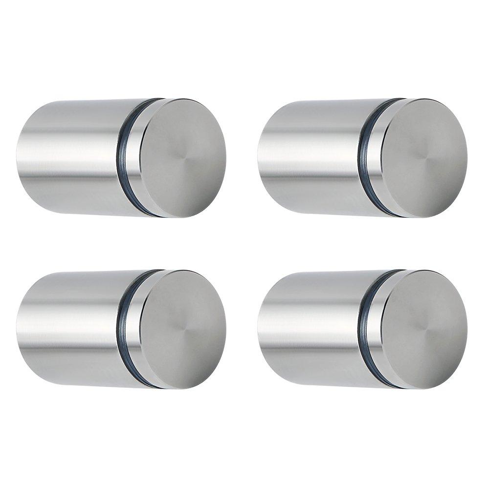 sayayoガラススタンドオフ広告スクリュー釘ストアサインホルダーネイル、1インチDiaと1 – 2 /5インチ長、4個、al5025qsp4 B07CKD57T3