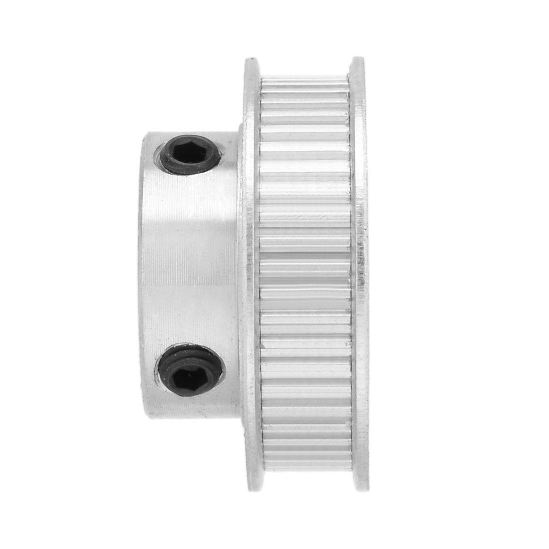 sourcing map Aluminium MXL 60 dents 5mm al/ésage courroie de distribution poulie renvoi roue synchrone 6mm ceinture pour 3D imprimante CNC